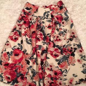 A-line flare flower skirt M